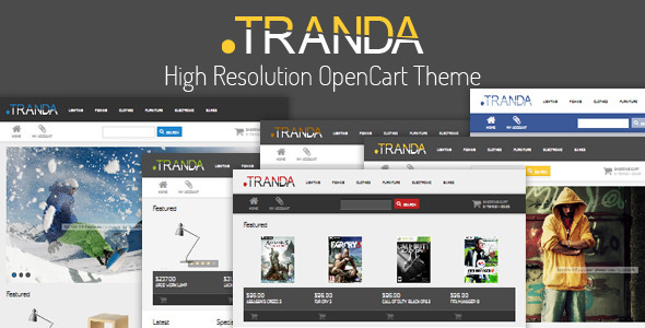 ThemeForest .TRANDA High Resolution OpenCart Theme 3883194
