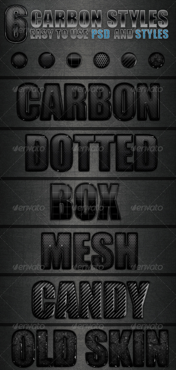 Carbon Text Style - Text Effects Styles