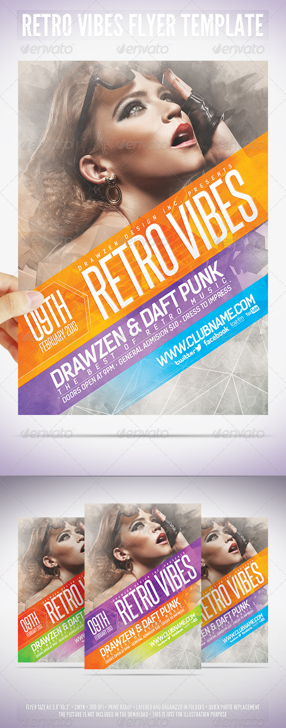GraphicRiver Retro Vibes Flyer Template 3903465