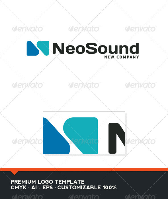 GraphicRiver Neo Sound Abstract and N Letter Logo Template 3903531