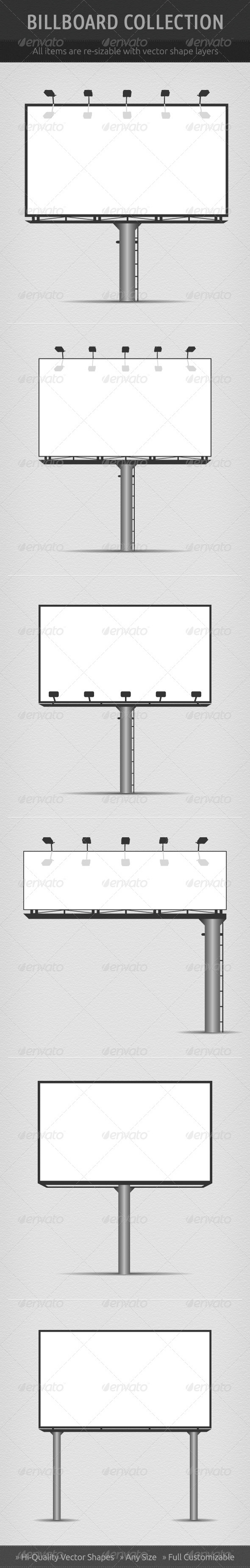 Vector Billboard Collection - Borders Decorative