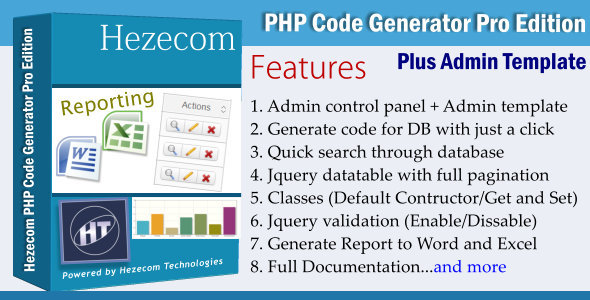 CodeCanyon PHP Code Generator Pro Edition Plus Admin Panel 3905346