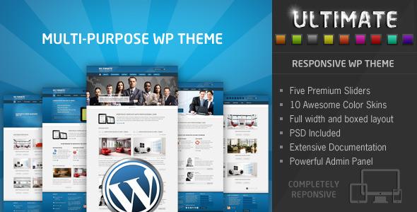 ThemeForest Ultimate Multi Purpose Responsive WP Theme 3905403