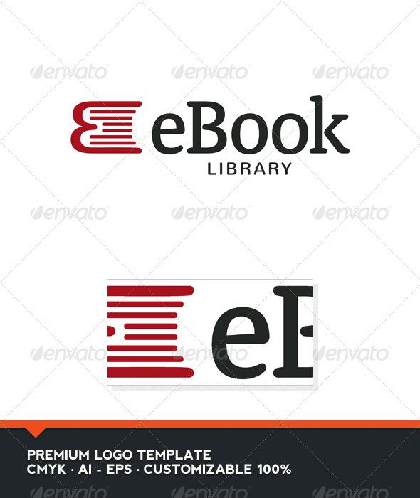 Graphicriver Book Cover Template : Ebook book and e letter logo template graphicriver