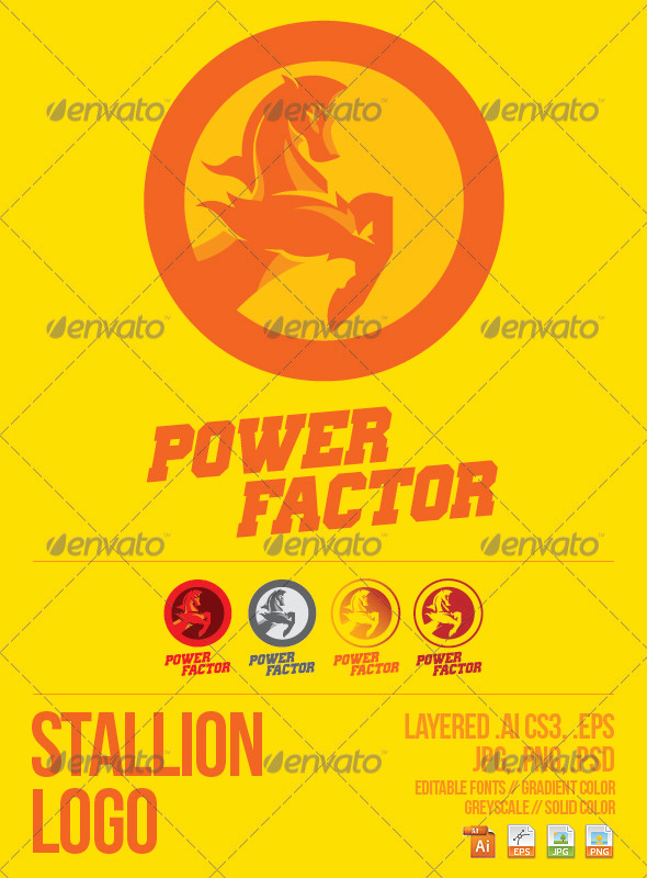GraphicRiver Stallion Logo Template 3905453