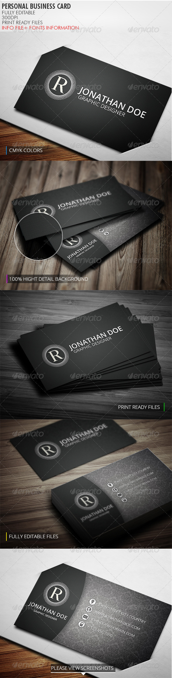 GraphicRiver Personal Business Card 3832929