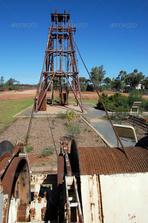 PhotoDune Gold mining industrial monument 3905727