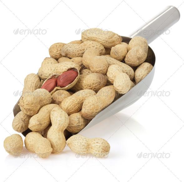 PhotoDune nuts peanuts isolated on white 3905700