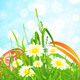 Easter Eggs in the Grass - GraphicRiver Item for Sale