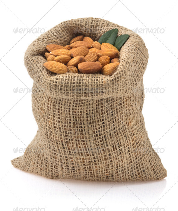 PhotoDune nuts almond isolated on white 3905707