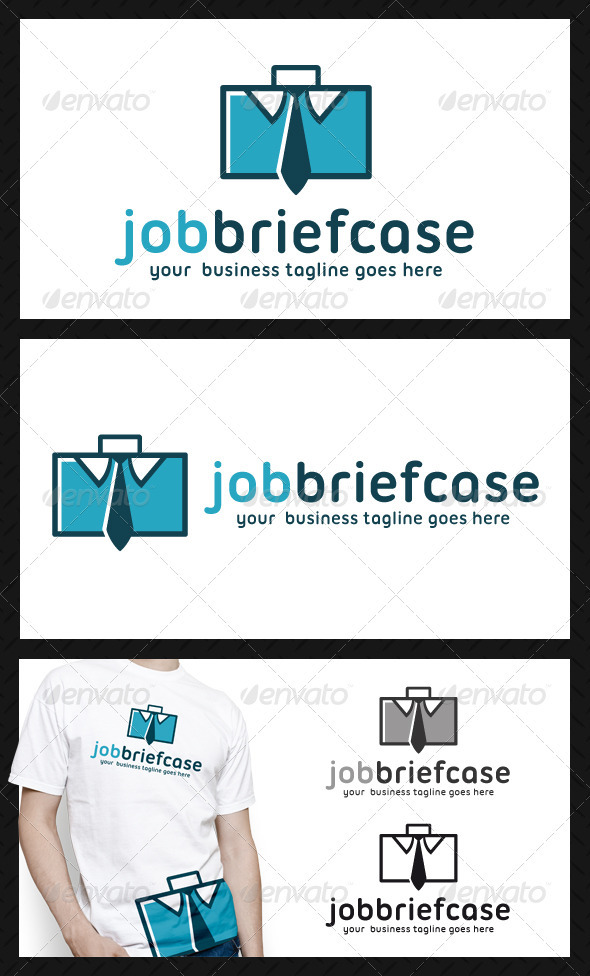 GraphicRiver Job Briefcase Logo Template 3907066