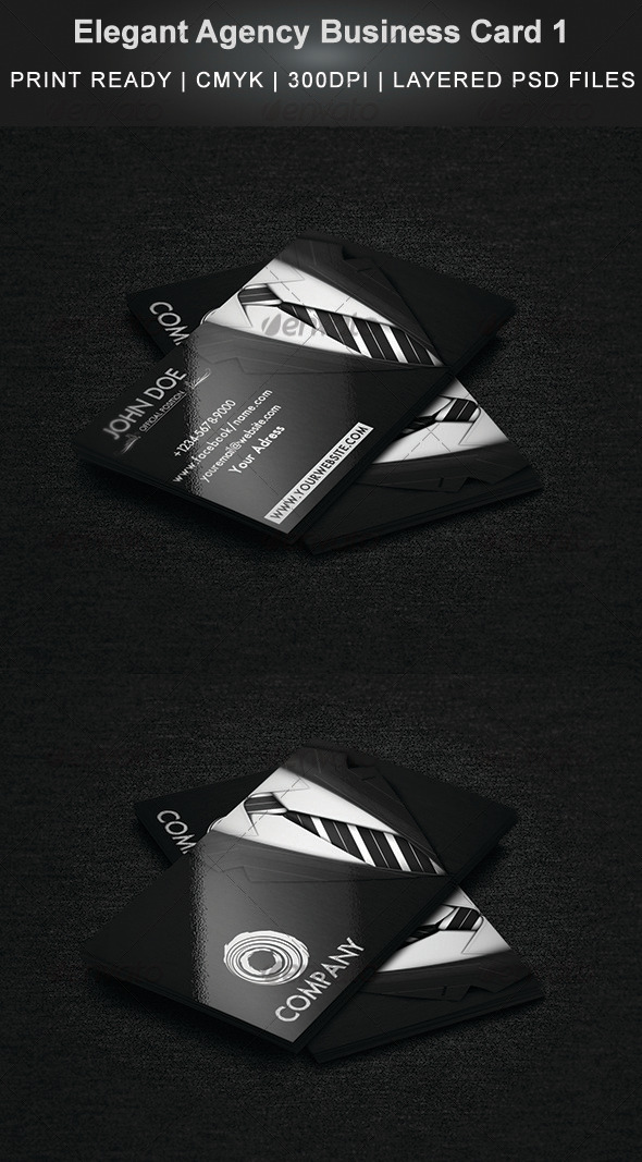GraphicRiver Elegant Agency Business Card 1 3907393