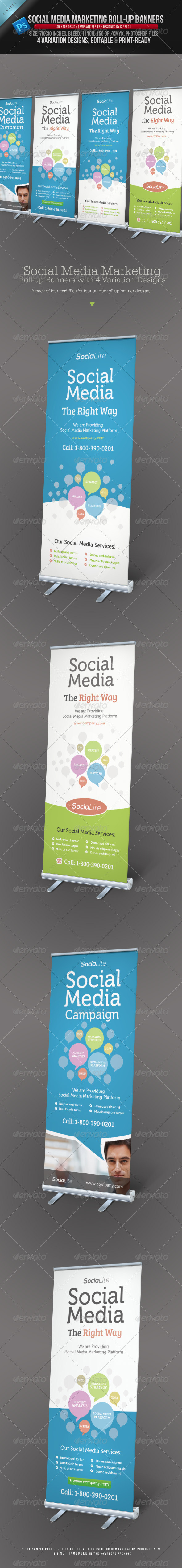GraphicRiver Social Media Marketing Roll-up Banners 3907853