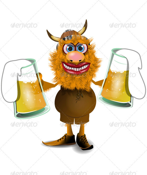 GraphicRiver viking with beer 3907955 Created: 5