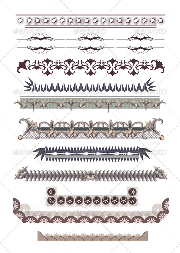GraphicRiver Set of Certificate Borders 3907993