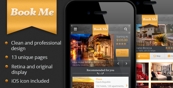 ThemeForest Book Me PSD 3908703