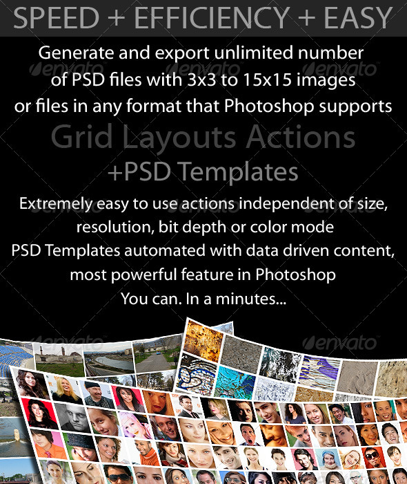 GraphicRiver Grid Layouts Actions and PSD Templates 3908776