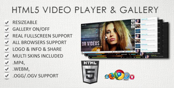 CodeCanyon HTML5 Video Player & Gallery 3894653