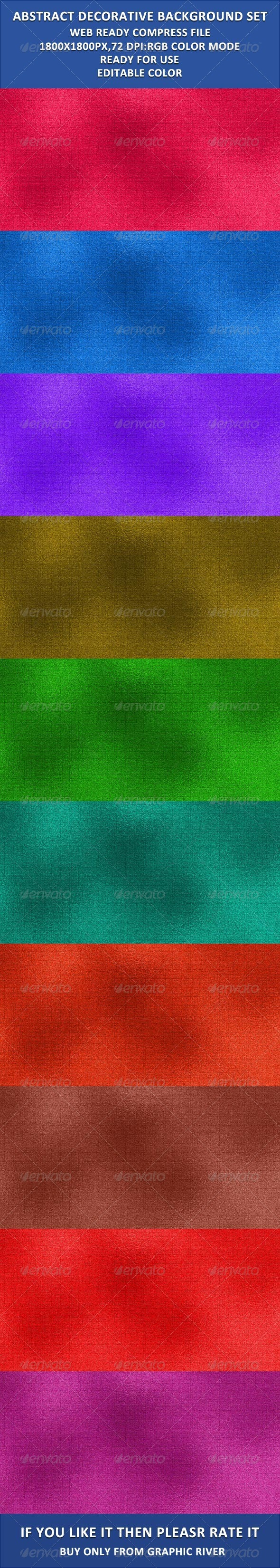 GraphicRiver Decorative Fabric Background Set 3908890
