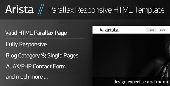 ThemeForest Arista Parallax Responsive HTML Template 3909014