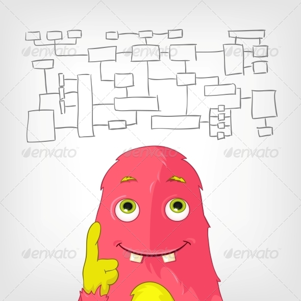 GraphicRiver Funny Monster 3909027