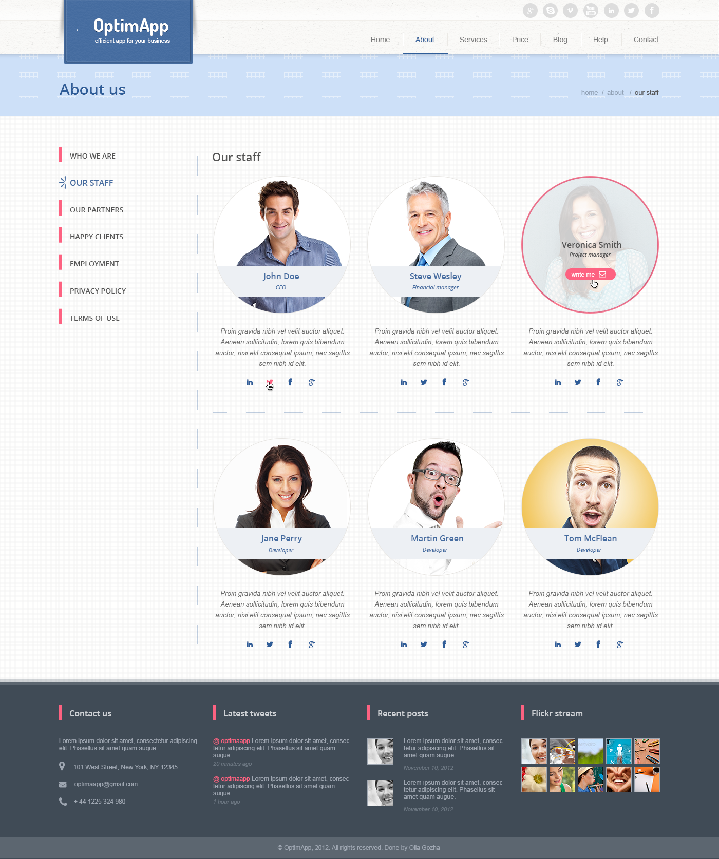 OptimApp - Responsive Bussines & Technology PSD