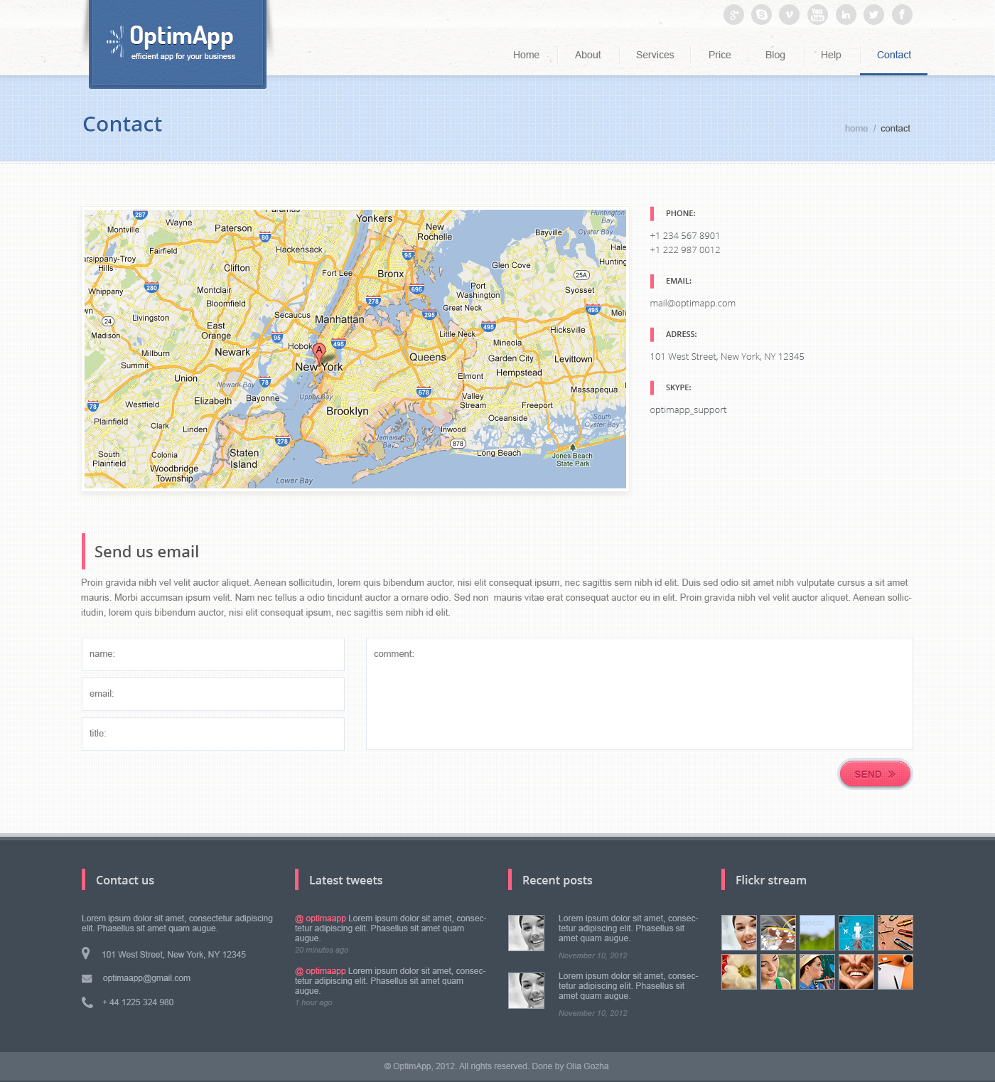 OptimApp - Responsive Business & Technology PSD