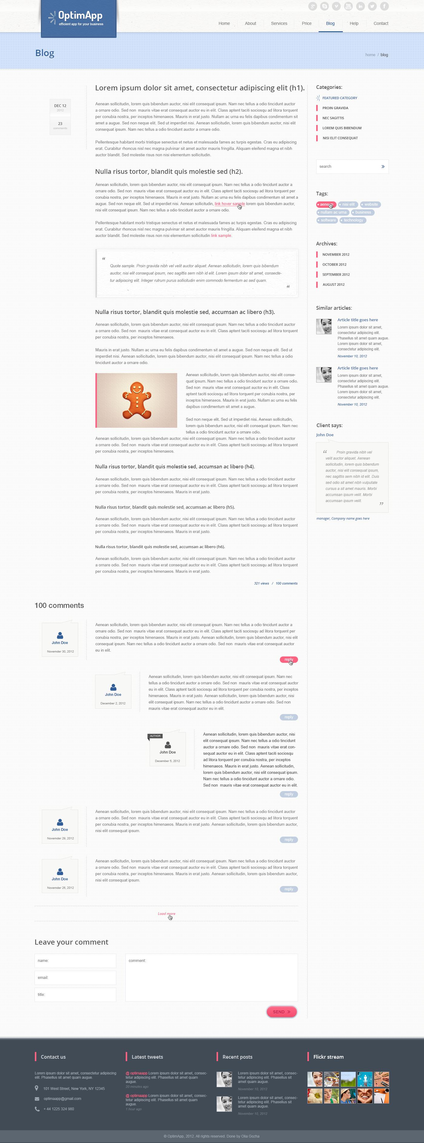 OptimApp - Responsive Business & Technology PSD