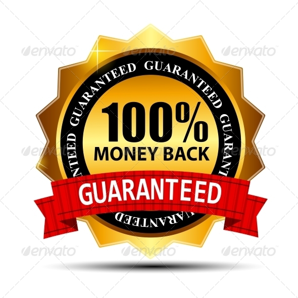 GraphicRiver Vector money back guarantee gold sign label 3909107