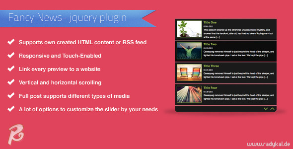 Fancy News jQuery plugin
