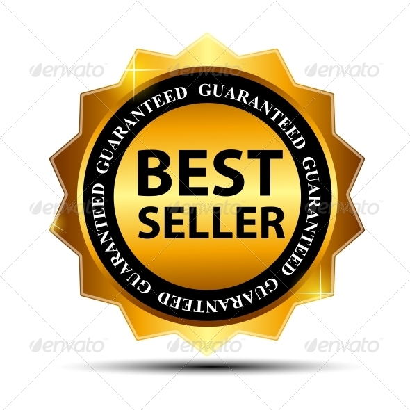 GraphicRiver Vector Best Seller Label Sticker 3909247