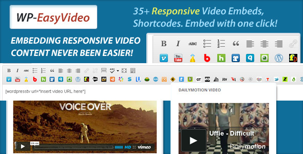 CodeCanyon EasyVideo Responsive Video Embeds Shortcodes 3907445