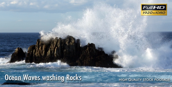 Ocean Waves Washing Rocks 2