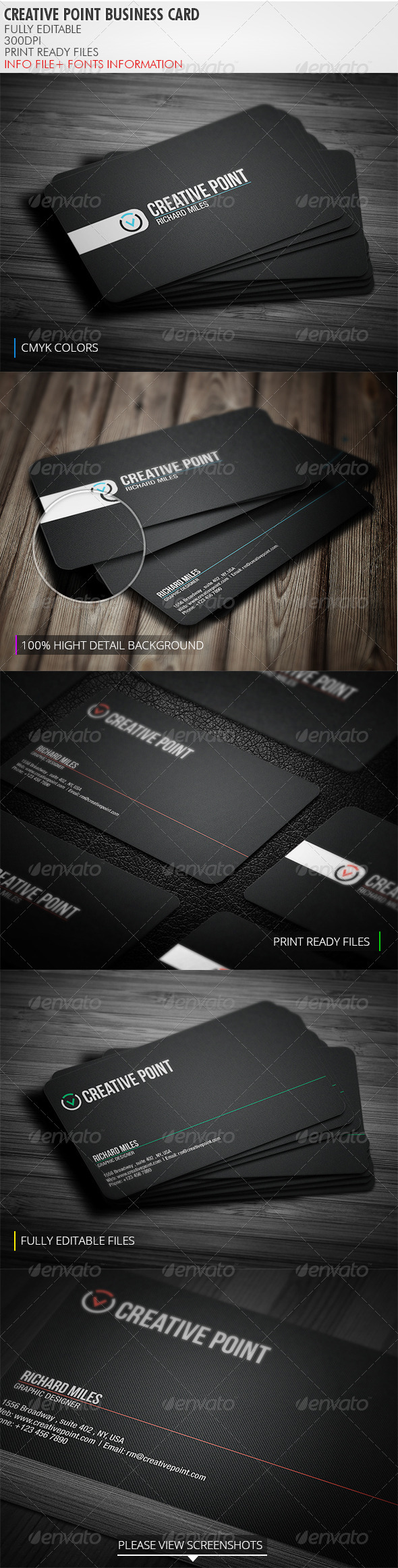 GraphicRiver Creative Point Business Card 3909427