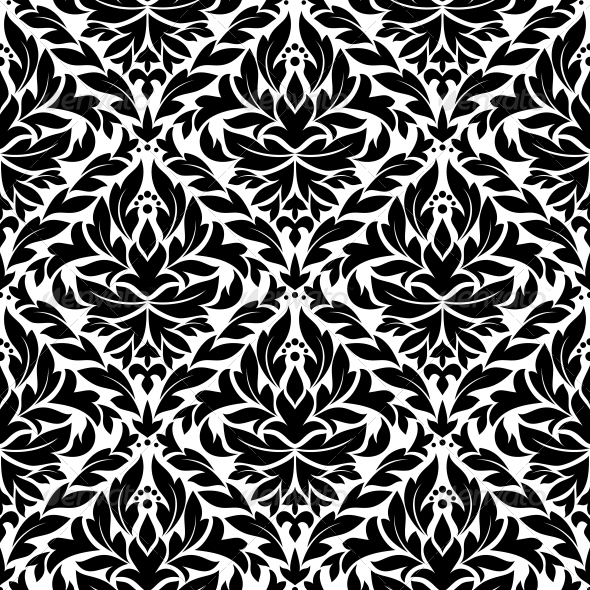 GraphicRiver Damask Vintage Seamless Pattern Background 3909846