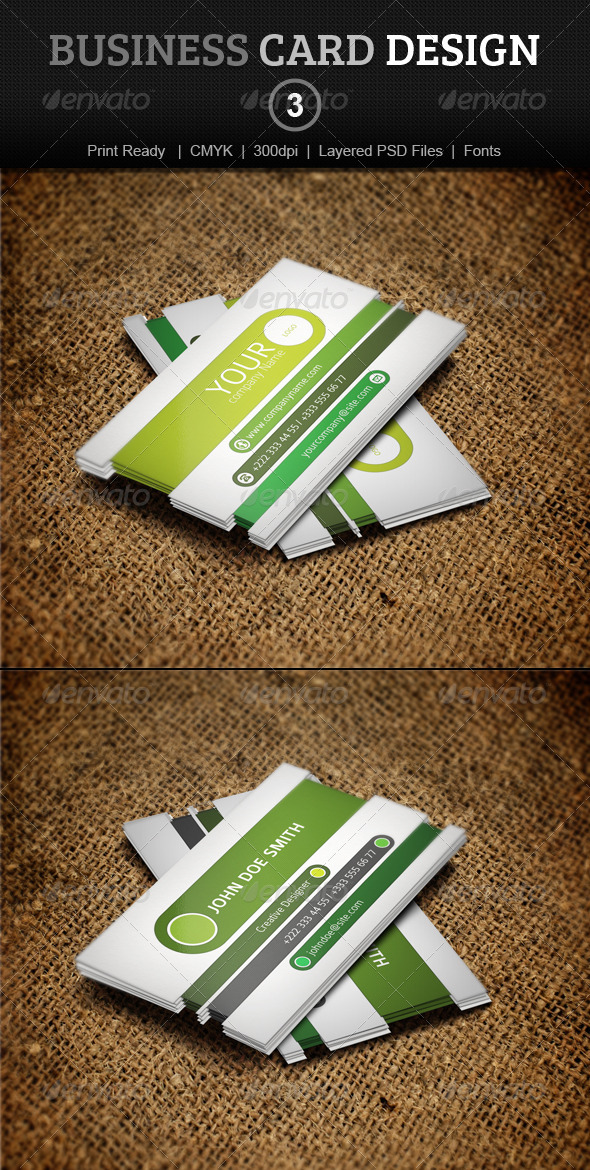 GraphicRiver Business Card Design 3 3909876