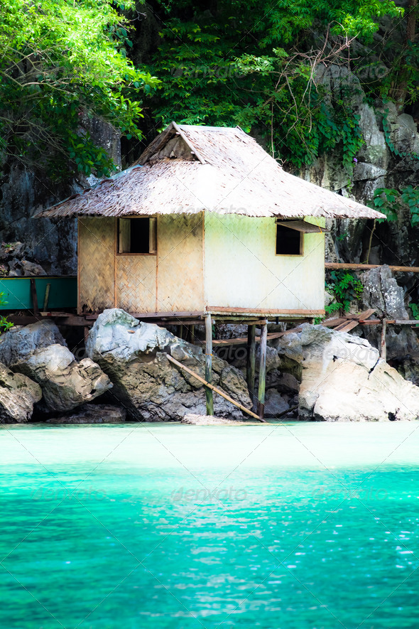 Fishing village in Coron the Philippines - Stock Photo - Images