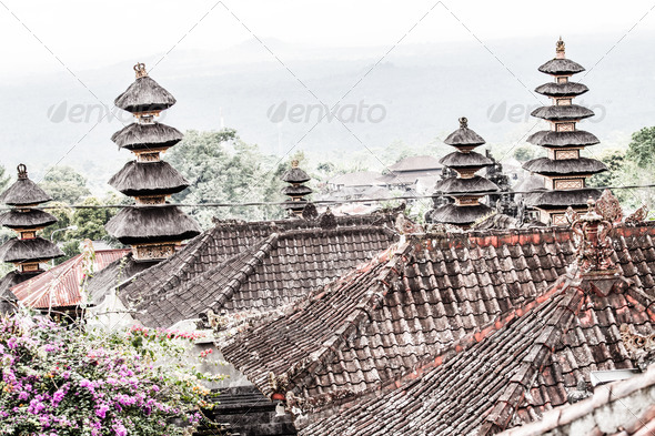 PhotoDune Beautiful Pura Taman Ayun Bali temple build in traditional architecture style 3911800