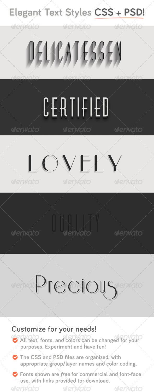 GraphicRiver Elegant CSS Type Styles &PSD 3909998