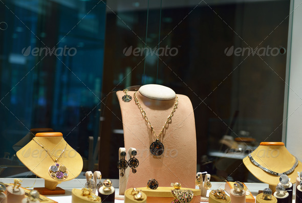 jewelry store indoors - Stock Photo - Images