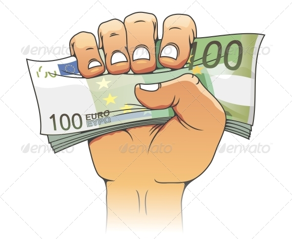 GraphicRiver Euro banknote in people hand 3910072