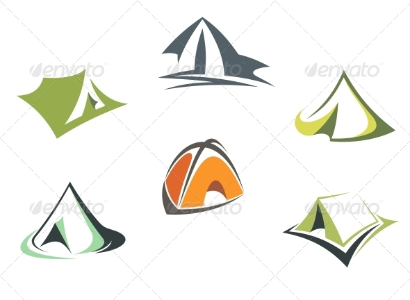 GraphicRiver Travel and adventure camp tents 3910074