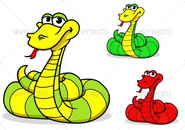 GraphicRiver Cartoon funny snake 3910114