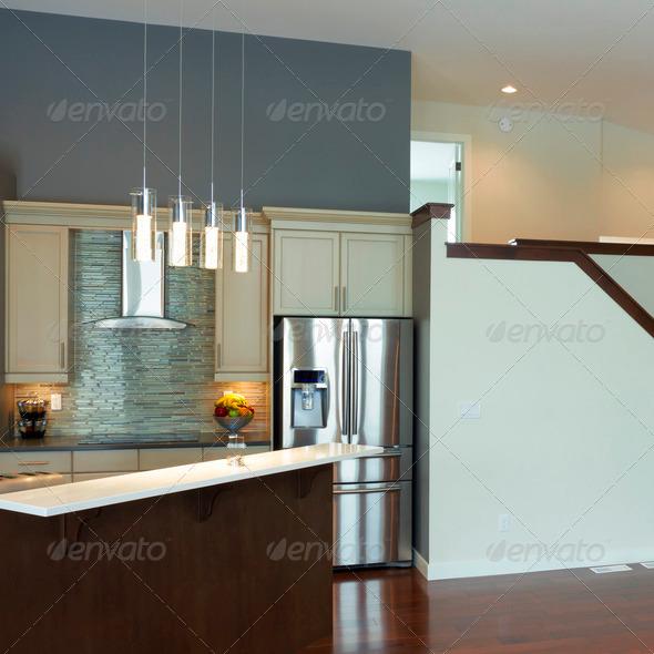 Modern Kitchen Interior Design - Stock Photo - Images