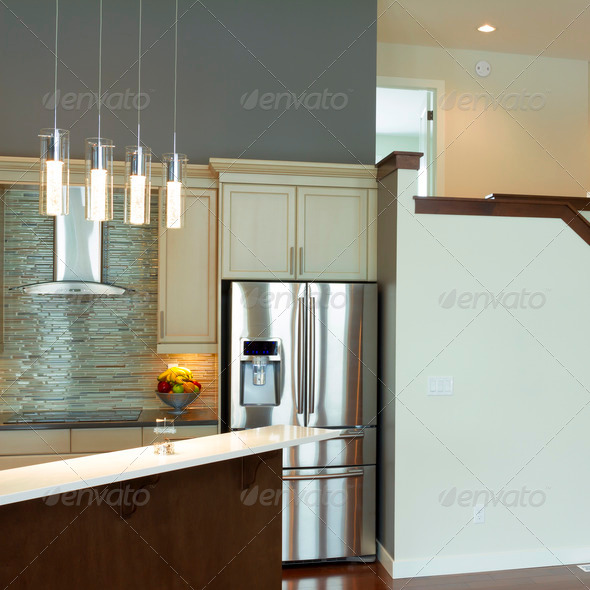 Modern Kitchen Interior Design - Stock Photo - Images