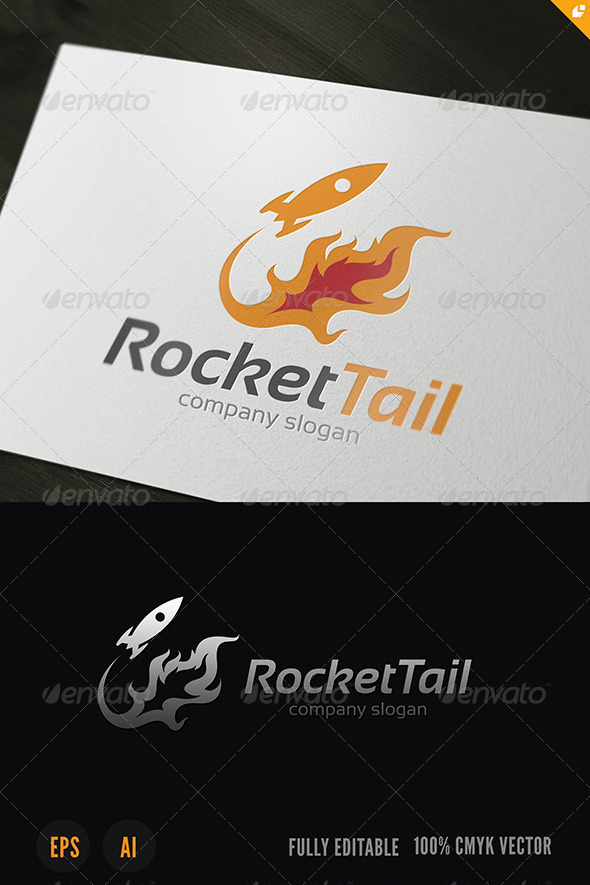 GraphicRiver Rocket Tail Logo 3783627