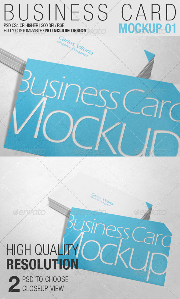 Business Card Mockup 01 - Business Cards Print