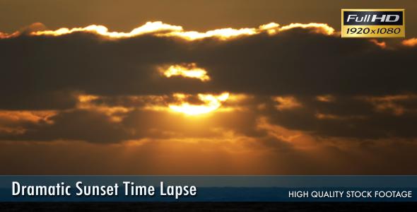 Dramatic Sunset Time Lapse