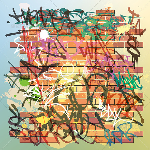 GraphicRiver Graffiti Wall 3910834