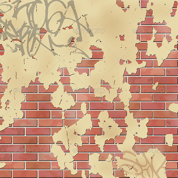 GraphicRiver Wall with Plaster 3910877